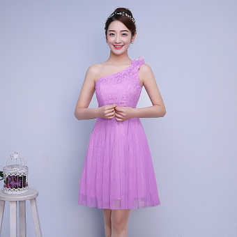 New style bridesmaid dress for women (Violet)
