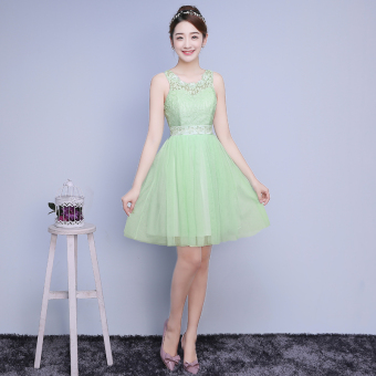 New style bridesmaid dress (Light Green) (Light Green)