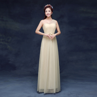 New style bridesmaid slimming sisters skirt dress bridesmaid dress (DL champagne) (DL champagne)