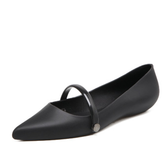 New style Flat pointed gel shoes (Black)