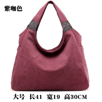 New Style Large Capacity Jianyue shoulder bag women's bag (Large purple coffee color (New monochrome))