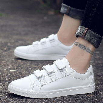 style Velcro zhan dai Men sneakers Men shoes White White