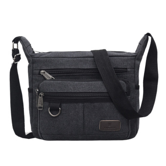 New style men's big men's bag shoulder bag (Black)