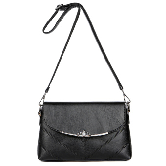 New style middle-aged female cross-body small bag mommy bag (Black)