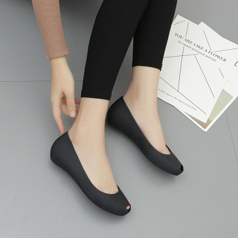 New style open toed gel shoes (Black)