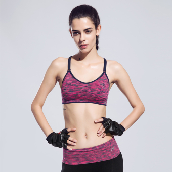 New style quick-drying yoga clothes sports clothing (Rose suit bra + Capri pants)