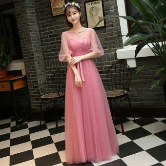New style with red bean paste color bridesmaid dress (Red bean paste color a Section) (Red bean paste color a Section)