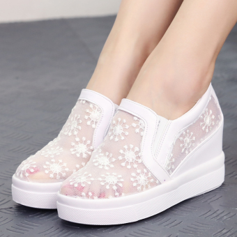 New style within the higher flat lace shoes (White)