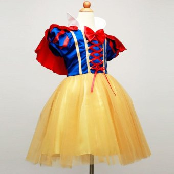 New Summer Girls Snow White Princess Dresses Kids Girls Halloween Party Christmas Cosplay Dresses Costume Children Girl Clothing - intl
