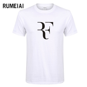 New Summer Roger Federer Men T Shirt RF Raglan T Shirt Fashion 100%Cotton Hip Hop Loose T-shirt Tops Tees Brand Clothing (White) -intl Price Philippines