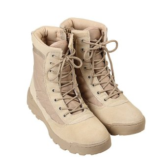 NEW Tactical Army Mens Lace Up Shoes Sports Desert Ankle Boots Waterproof - intl