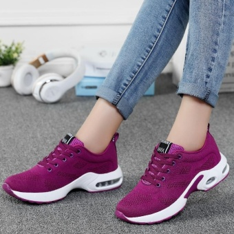 New Trendy Women Sneakers Fly Weave Breathable Women Running Shoes Soft Non-Slip Sole Womens Trainers Outdoor Sports Jogging Shoes(purple) - intl - 4