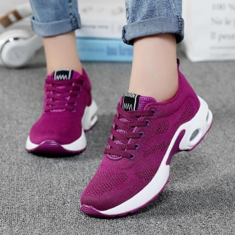 New Trendy Women Sneakers Fly Weave Breathable Women Running Shoes Soft Non-Slip Sole Womens Trainers Outdoor Sports Jogging Shoes(purple) - intl - 2