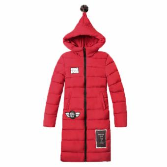 New Woman's Winter Jacket Down Cotton Jacket Slim Parkas Ladies Coat(Red) (Intl) - 3