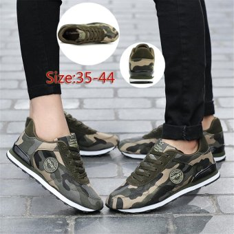 Women & Men Fashion Camouflage Canvas Shoes Casual Sports Shoes for Men - intl