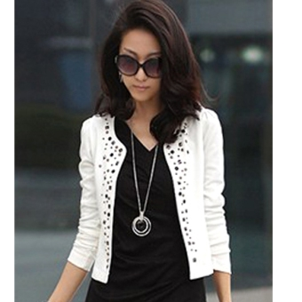 New Women Korean Fashion Lady Long Sleeve Shrug Suits Blazer ShortOuterwear Coat Jacket