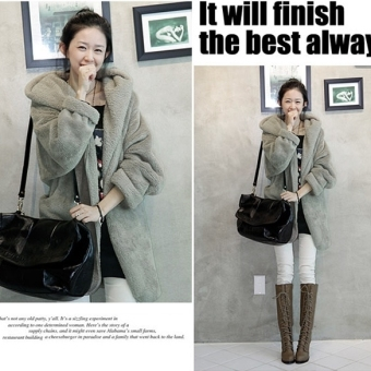 New Women&rsquo Hoodie Down Warm Outerwear Cardigan Jacket Coat - intl