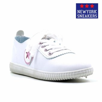 New York Sneakers Aeryn Low Cut Shoes(WHITE/PINK)