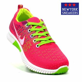 New York Sneakers Aiyana Rubber Shoes(PINK/GREEN)