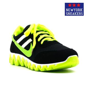 New York Sneakers Alea Rubber Shoes(BLACK/GREEN)