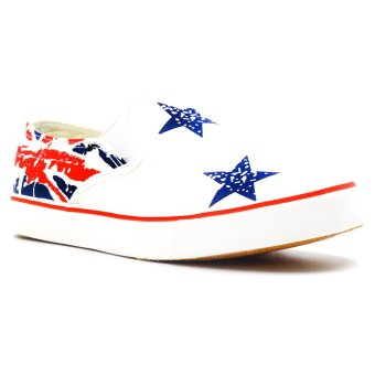New York Sneakers Alexis Slip Ons Shoes (White)