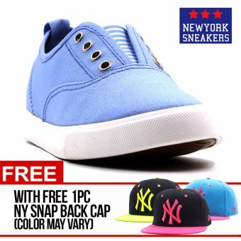 New York Sneakers Ann Slip On Shoes(L.BLUE) with FREE NY CAP Price Philippines