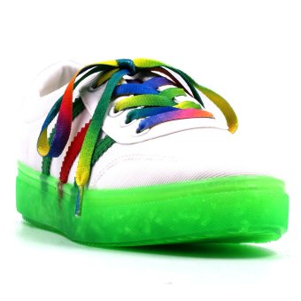 New York Sneakers Cali Low Cut Shoes(WHITE/GREEN)