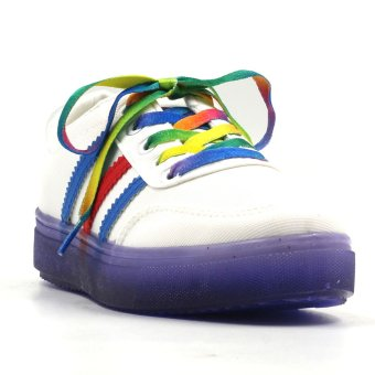 New York Sneakers Cali Low Cut Shoes(WHITE/VIOLET)