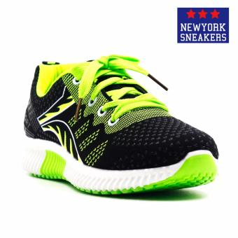 New York Sneakers Elly Rubber Shoes(BLACK/GREEN)
