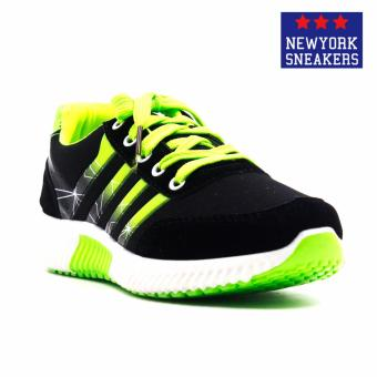 New York Sneakers Everly Rubber Shoes(BLACK/GREEN)