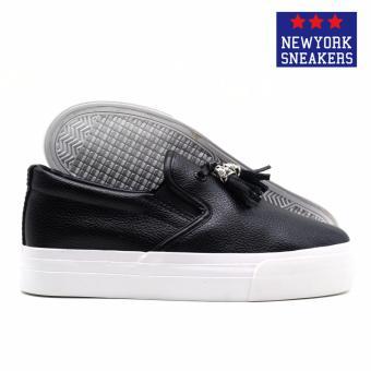 New York Sneakers Hayes Slip On Shoes(BLACK) - 3