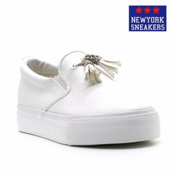 New York Sneakers Hayes Slip On Shoes(WHITE)