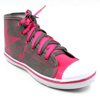 New York Sneakers Kelsey High Cut Shoes (Gray/Pink)
