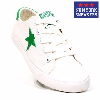 New York Sneakers Missy Low Cut Shoes(WHITE/GREEN)