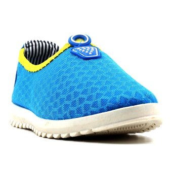 New York Sneakers Myesha Slip On Shoes(Blue/Yellow Green)