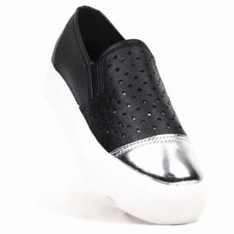 New York Sneakers Pavey Slip On Shoes (BLACK)