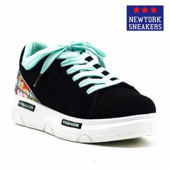 New York Sneakers Rabbatts Rubber Shoes(BLACK/GREEN)