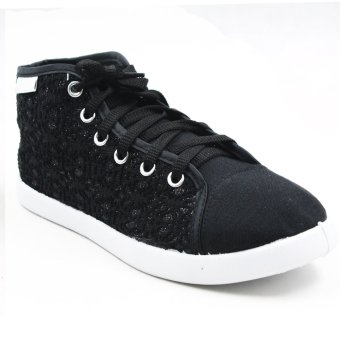 New York Sneakers Rica High Cut Shoes (Black)