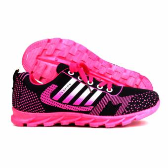 New York Sneakers Selby Rubber Shoes(BLACK/PINK) - 3