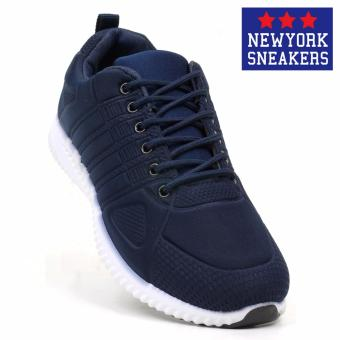 New York Sneakers Seth Rubber Shoes(NAVY)