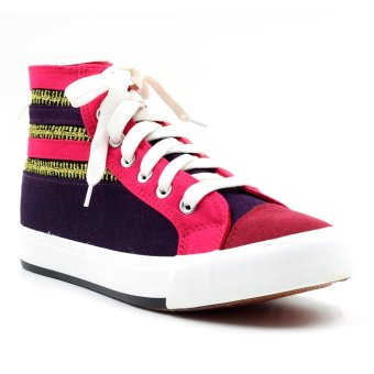 New York Sneakers Shea High Cut Shoes (Violet)