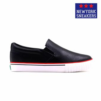 New York Sneakers Tabby Slip On Shoes(BLACK) - 2