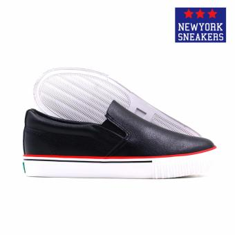 New York Sneakers Tabby Slip On Shoes(BLACK) - 3