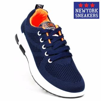 New York Sneakers Tony Rubber Shoes 6055(NAVY/ORANGE)