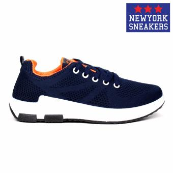 New York Sneakers Tony Rubber Shoes 6055(NAVY/ORANGE) - 2