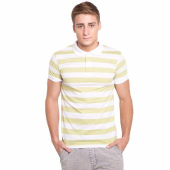Newyork Army Bengal Stripes Men's Polo Shirt - Light Green