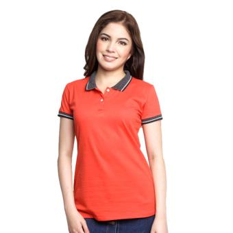 Newyork Army Jacquard Ladies Polo Shirt - Red