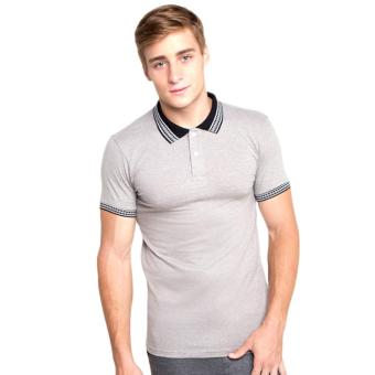 Newyork Army Men's Jacquard Polo Shirt - Grey