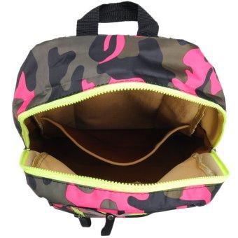 Newyork Army N7280 Camouflage Backpack (Pink) - 3