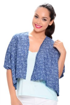 NEXT 91-955 Little Mixed Flowers Kimono (Blue)